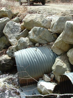 Outlet of Culverts at Ash Bog Stream in Maine