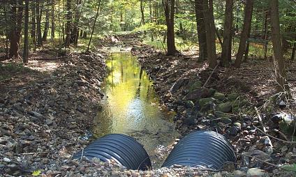 Culverts on Leadmine Brook, Connecticut