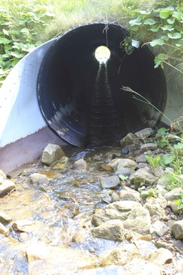 Photo of the Passage Barrier on Oats Run in West Virginia