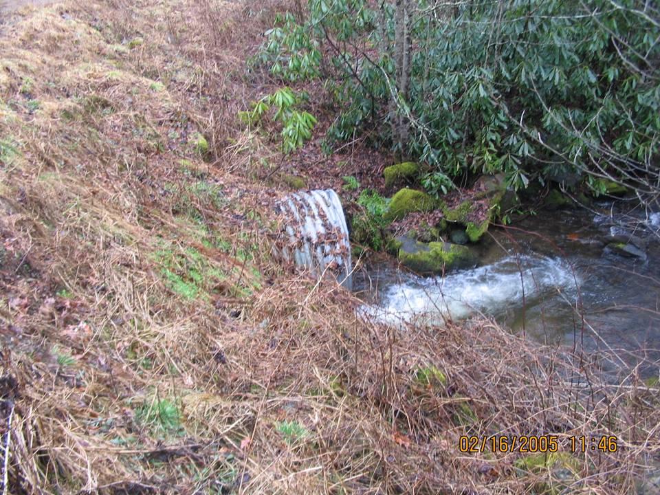 Crossing on Tipton Creek in North Carolina