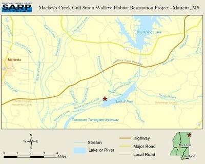 NFHAP: Mackeys Creek Gulf Coast Strain Walleye Habitat Restoration