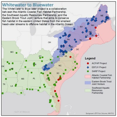 Whitewater to Bluewater Map
