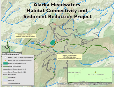 Site map for Alarka Headwaters project