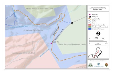 Henderson Brook culvert removal project map, Maine